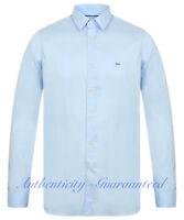 LACOSTE Men's Long Sleeve Slim Fit Stretch Shirt Blue S - XXL RRP £100 SALE!!