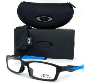 Oakley Crosslink OX8118-0156 Stain Black Blue  / Demo Lens 56mm Eyeglasses