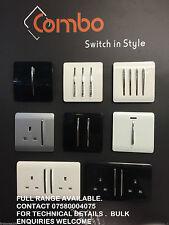 Modern Designer Black white silver light white silver switch plug socket rocker