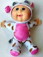 Cabbage Patch Kid Cuties Coco Cow Brown Doll Pink Vinyl Hard Head Plush Body Toy