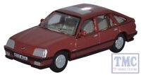 76CAV002 Oxford Diecast 1:76 Scale OO Gauge Vauxhall Cavalier Carnelian Red