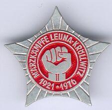 DDR Märzkämpfe Leuna-Kröllwitz 1921-1976, Alu. -teils farbig lackiert, RARE