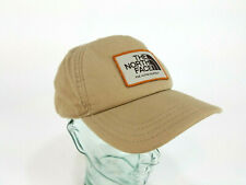 The North Face Adjustable Stitched Logo Patch SnapBack Hat (Adult) Tan Khaki