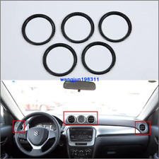 For 2015-2017 Suzuki Vitara ABS Carbon Inner Air Condition Vent Outlet Trim 5pcs
