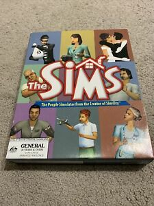 The Sims The People Simulator PC Game CD-Rom Big Box Manual Vintage 2000 EA