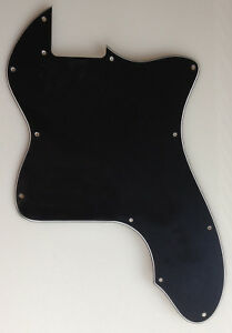 For US Classic telecaster 72 thinline Tele Guitar Pickguard Blank, 3 Ply Black