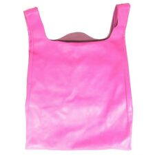 MAISON MARTIN MARGIELA Hot Pink $590 Leather Large Shopper Tote Purse 1221RM