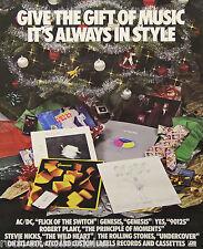 Genesis Yes Stevie Nicks Fleetwood Mac Atlantic Records Promo Poster