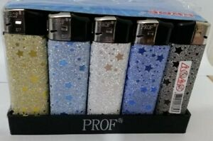 SHINY Star  5 x  LIGHTERS DISPOSABLE ELECTRONIC  LIGHTER
