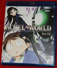 Accel World: Set 02 Blu-ray ANIME VIZ MEDIA 2 DISC SET