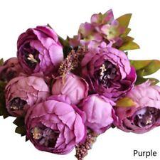 13-Head Artificial Silk Flowers Large European Peony Wedding Home Decoration