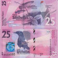 Seychelles 25 rupees 2016 P-48 Birds Fish NEW-UNC