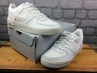 NIKE UK 6 EU 39 AIR FORCE 1 WOVEN WHITE TRAINERS CHILDRENS BOYS GIRLS LADIES C