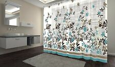 Birds Shower Curtain Waterproof Polyester Fabric Bathroom Hooks 72 x 72 inch New