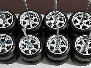 USA STOCK Samed Wheels 10 set 6 spoke CHROME for 1:64 cars #2