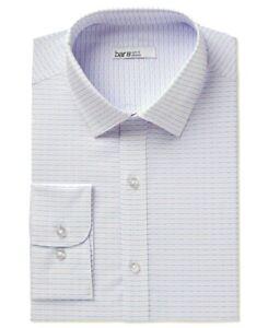Bar III Mens Dress Shirt Blue Size Small S (14-14 1/2) Slim-Fit Stretch $65 038