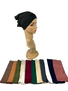 Women Muslim Under Hat Frontal Tube Bonnet Hijab Turban Chemo Cap Head Scarf