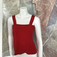 Cardiere et Cie Cherry Red Tank Sleeveless Vintage Blouse Top SZ XS / Small