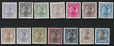 PORTUGAL:1910 King Manuel II definitives 2 1/2r-1000r SG390-403 mint with hinges