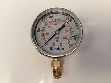 Hydraulic Pressure Gauge 63mm Bottom Entry 0-9000 PSI 600 Bar Gauges GB63600/04