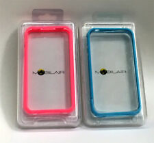 (Lot of 2) Mobilair -Bumper Cases for iPhone 4 -Pink / Blue
