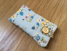 iPhone 5 / 5S / 5C / SE Fabric Padded Case - Cath Kidston Blue Woodland Rose