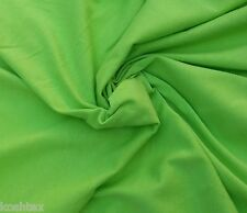 Organic Cotton Fabric Blend Jersey Knit By the Yard - Lime Green