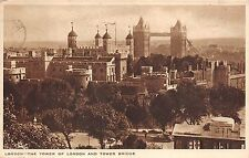 BR61384 the tower of london and tower bridge   uk