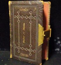 Rare 1869 Book of Common Prayer Leather Bound D. Appleton & Co.
