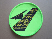 Runway's End Activity Centre Cloth Patch Badge Boy Scouts Scouting L3K B