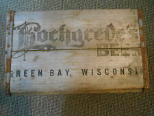 Old Vintage or Antique ADV. Hochgreve's Beer Green Bay Wisconsin Wood Crate Box