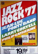 JAZZ ROCK - 1977 - Konzertplakat - Jean-Luc Ponty - Coryell - Catherine - Düssel