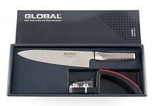 WEIHNACHANGEBOT 2020 : GLOBAL Starterset in Geschenkbox G-2220BR Messer+Schärfer