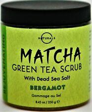 Matcha Rejuvenating Green Tea Scrub w/Dead Sea Salt & Bergamot 8.45oz Exp 08-22