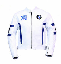 BMW Mens Cowhide Motorbike Leather Jacket BMW Motorcycle Sports Leather Jacket