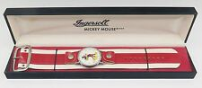 Rare Vtg Ingersoll Mickey Mouse Walt Disney Productions Wrist Watch Original Box