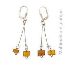 Modernist Bernstein Sterling Silber Ohrringe amber silver earrings 🌺🌺🌺🌺🌺