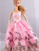 Wholesale Handmade Pink The original soft clothes dress for barbies doll 1093