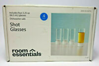 Shot Glasses - 2.25 oz /66.5 ml  Room Essentials Glass Set of 4 Made in the USA