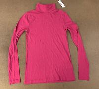 J crew Women's Size XS Pink Long Sleeve Tissue Turtleneck Top NWT