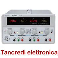 Alimentatore da banco Twintex TP-2303K 3 uscite 30V 3A 5V 3A regolabile TP-2303