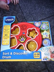 VTech Sort and Discover Drum, Musical Toy with Learning Games, Interactive Toy