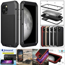 iPhone 11 Pro Max Case Cover Metal Bumper IP54 Waterproof Screen Protector Glass