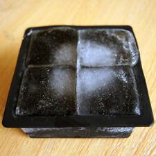 Schwarz Big Giant Jumbo King Größe Silikon Eiswürfel Quadratische Tray Mould