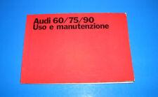 Audi 60 / 75 / 90 Libretto Uso e Manutenzione 1970 ITA