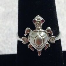 Sterling Silver Turtle Ring Size 7.75  2.7 Grams.