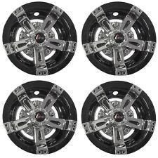 "Set of 4 Golf Cart 10"" Maverick Chrome and Black GTW Wheel Covers Hub Caps"