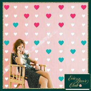 Pink Heart Wall Stickers Decal Child Vinyl Art Decor Spots  Baby Nursery wedding
