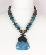 """Turquoise & Gold Colour Necklace, Ethnic, Boho, Fashion, 27"""""""