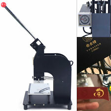 Manual Hot Foil Stamping Machine 1015cm Leather Gold Embossing Logo Press Usa